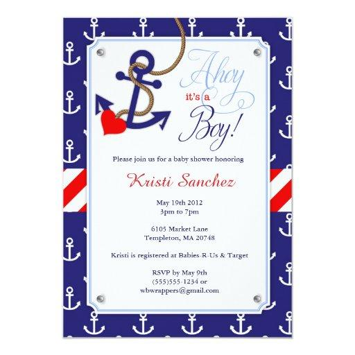 nautical baby shower invitations  babyshowerinvitationsu, Baby shower