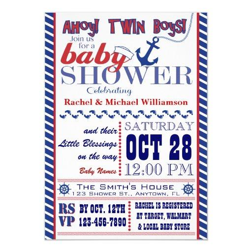 Nautical Twin Baby Boy Shower