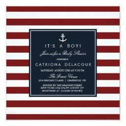 Navy and Red Nautical Baby Shower
