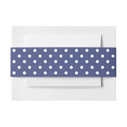 Navy Blue and White Polka Dots  Belly Band
