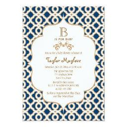 Navy Blue Gold Moroccan Gender Neutral
