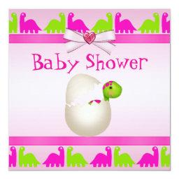 Newly Hatched Baby Girl Dinosaur Baby Shower