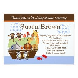 Noah's Ark/Animal Pairs Baby Shower Invite