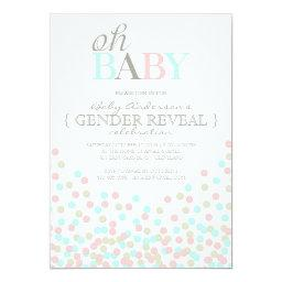 Oh Baby Confetti Gender Reveal Party | Pink Blue