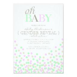 Oh Baby Confetti Gender Reveal Party | Purple Aqua
