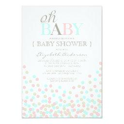 Oh Baby Confetti | Modern Baby Shower
