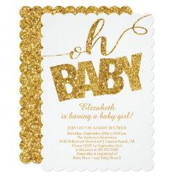Oh Baby! Gold Glitter Baby Shower