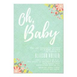 Oh Baby Mint Floral Baby Shower