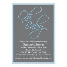 Oh Baby Posh Baby Shower for Boy