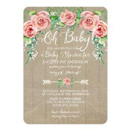 Oh  Girl Flower Crown Barn Wood Boards