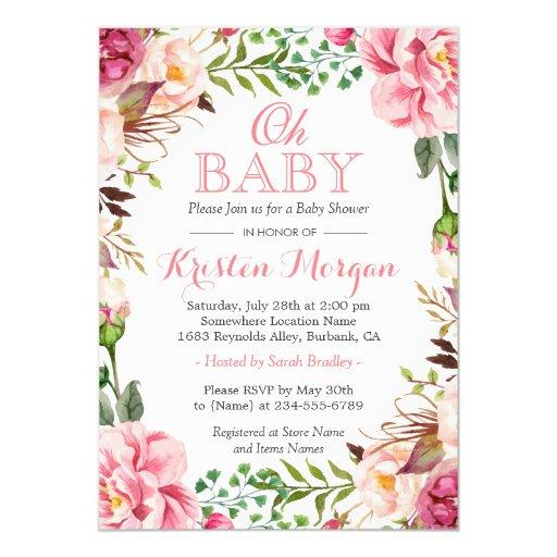 Pink And Gold Baby Shower Invites for perfect invitations example