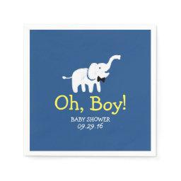 Oh Boy Elephant Navy Blue  Paper Napkin