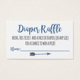 Oh Boy Tribal Diaper Raffle Tickets