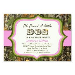 Oh Deer, A Little Doe Is On Her Way! Camo Invite