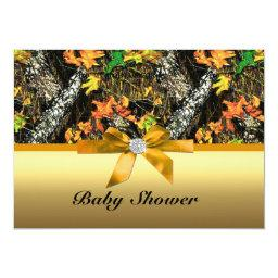 Orange Bow Camo Baby Shower Party