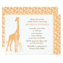 Orange Mom and Baby Giraffe Baby Shower