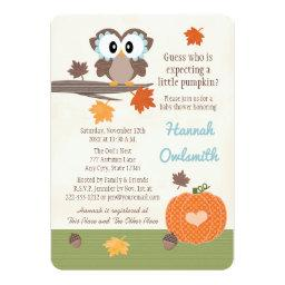 Owl and Pumpkin Baby Shower