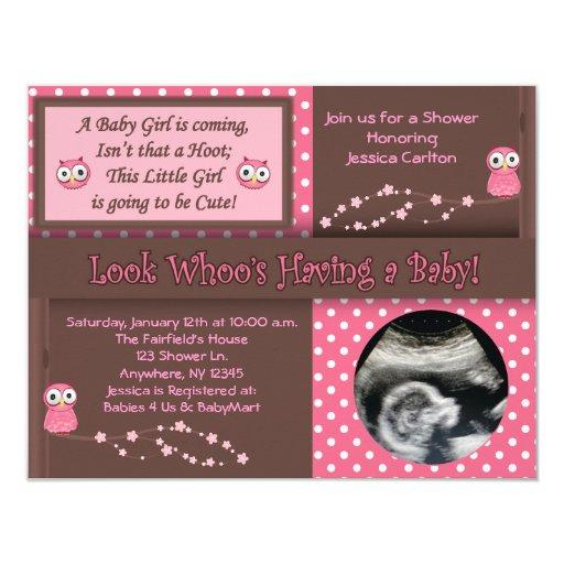 Owl Baby Girl Shower