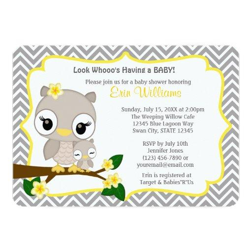 Owl  Chevron Gray Yellow 160