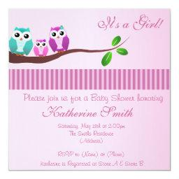 Owl Baby Shower  in Pink