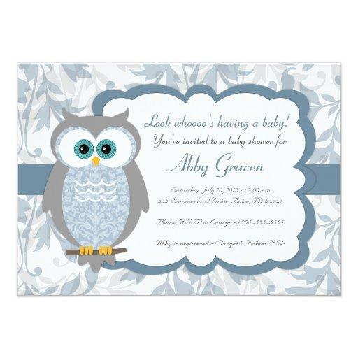 Owl , Blue, Gray - 830