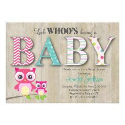 Owl Baby Shower - Look Whoo's Having a Baby