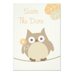 Owl  Save The Date Neutral Gender