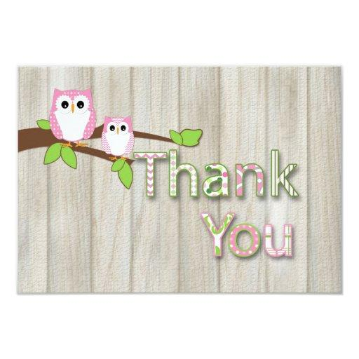 Owl  Thank you in Pink