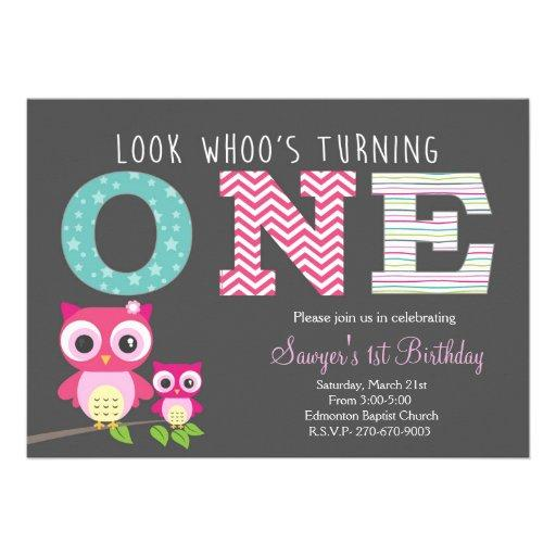 Owl First Birthday -Look whoo is turning one