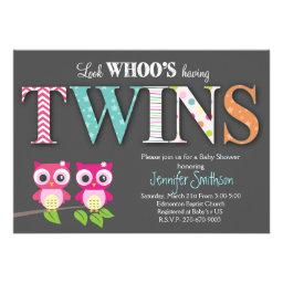 Owl TWINS Baby Shower - Look Whoo's Having a Baby