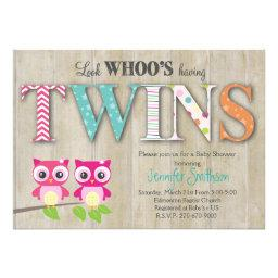 Owl TWINS - Look Whoo's Having a Baby