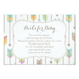 Painted Arrows Books for Baby Insert Card