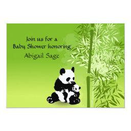Panda Bears and Bamboo Neutral  Invite