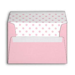 Pastel Pink and White Polka Dots Envelope