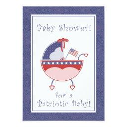 Patriotic Carriage Baby Shower