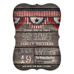 Patriotic Stars & Stripes Rustic Wood
