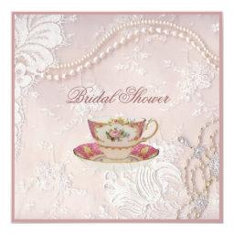 Pearl Blush pink lace Baby Tea Party