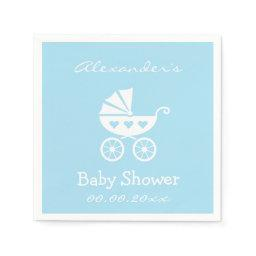 Personalized boy  napkins with carriage