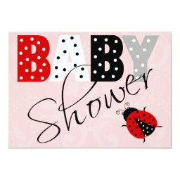 Personalized Red Ladybug Baby Shower