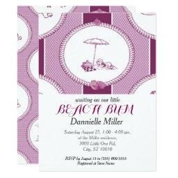 PH&D Beach Bums  Toile  Plum