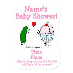 Pickle Loves Ice Cream Baby Shower Invite