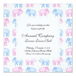 Pink and Blue Elephant Baby Shower