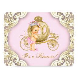 Pink and Gold Carriage Girls Princess