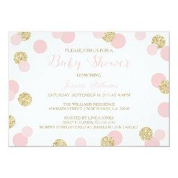 Pink and Gold Glitter Baby Shower