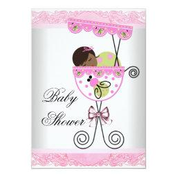 Pink and Green Baby Girl Shower