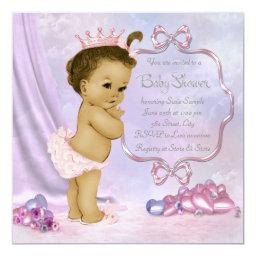 Pink and Purple African American Baby Girl Shower