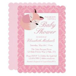 Pink Baby Shower Fox