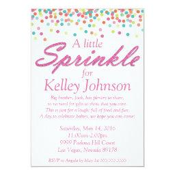 Pink Baby Sprinkle Shower Invite