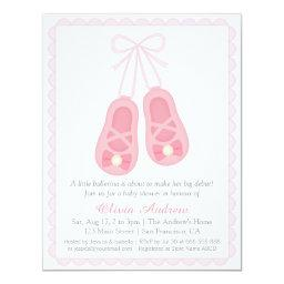 Pink Ballerina Shoes Girl Baby Shower