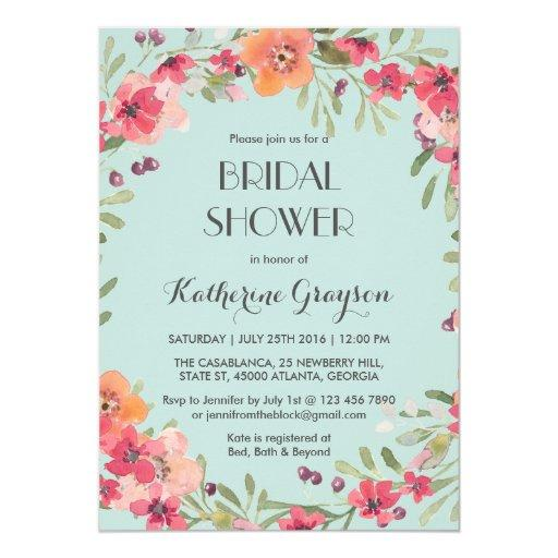 navy blue fantasy bridal shower invitations